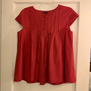Old Navy Red Short-Sleeved Blouse